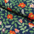 Rayonne (viscose) Cotton + Steel - Strawberry Fields Primrose Navy