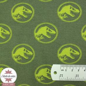 Jersey Oeko-Tex Jurassic World vert kaki