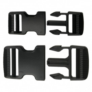 Boucle anti-gliss 8 x 4 cm - noir