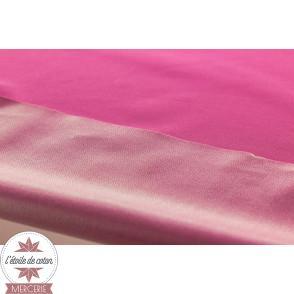 Tissu PUL interlock - rose azalée (Oeko-Tex)