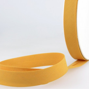 Biais uni polycoton 20 mm - moutarde