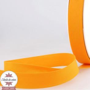 Biais uni polycoton 20 mm - jaune soleil