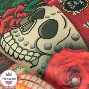 Panneau de velours ras - Skulls Velvet
