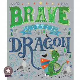 "Panneau ""Brave Little Dragon"" - Camelot Fabrics"