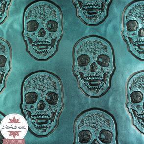 Simili cuir Hamlet canard - coupon 50 x 70 cm