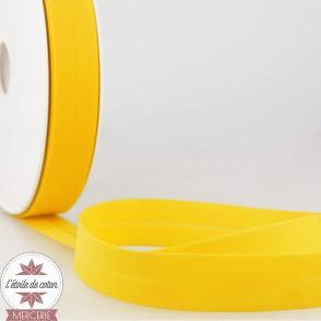 Biais uni polycoton 20 mm - jaune