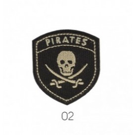 Motif thermocollant blason pirate