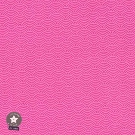 Simili cuir fin vagues rose clair/bubble gum - coupon 50 x 70 cm
