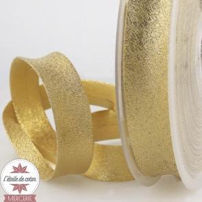 Biais lurex doré - 20 mm