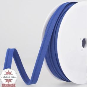 Passepoil uni polycoton - bleu turquoise