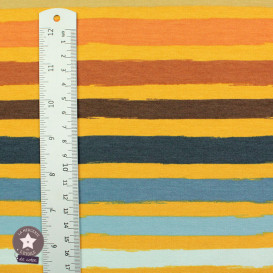Sweat léger Stripes by Poppy - sable - Oeko-Tex