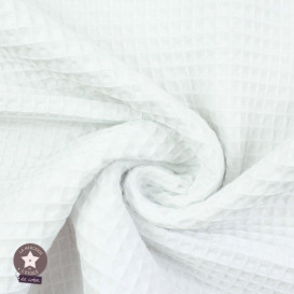 Tissu nid d'abeille gris clair (Oeko-Tex)