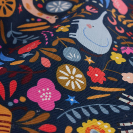 Tissu Dashwood velours Meadow Safari - marine