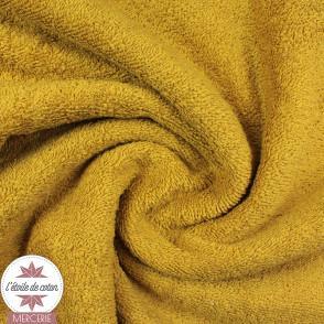 Tissu éponge coton - ocre