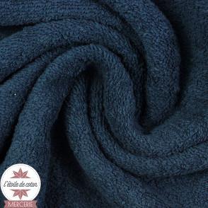 Tissu éponge coton - bleu marine