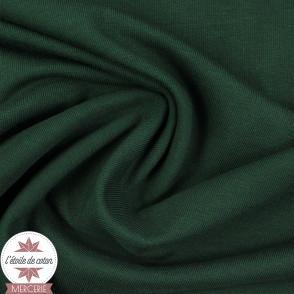 Jersey uni bio - vert cyprès (Oeko-Tex)