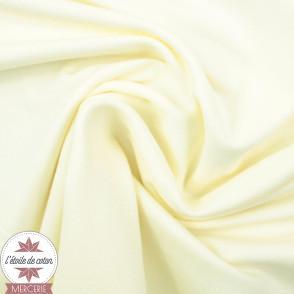 Jersey uni bio - blanc cassé (Oeko-Tex)