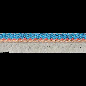 Ruban frange bleu/gris - 12 mm