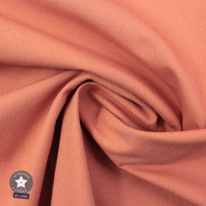 Tissu popeline de coton Oeko-Tex - rose blush