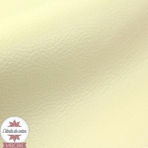 Simili cuir fin crème - coupon 50 x 70 cm