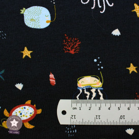 Jersey BIO Sea Animals by Poppy - bleu marine - Oeko-Tex