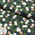 Tissu coton Kisnek nuit/vert/rose - Oeko-Tex