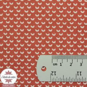 Tissu coton Wago terracotta - Oeko-Tex