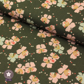 Tissu coton Kamini bronze/rose thé - Oeko-Tex