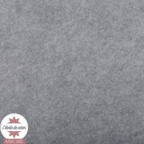 Feutrine gris chiné clair - 45 x 50 cm