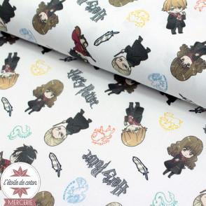 Tissu coton BIO - Harry Potter - Personnages