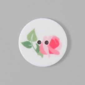 Bouton Tante Ema rose - 18 mm