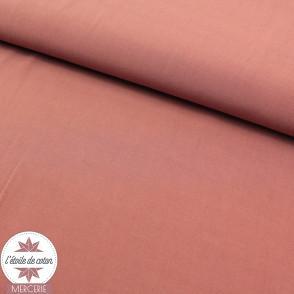 Tissu viscose uni - rose érable - Oeko-Tex