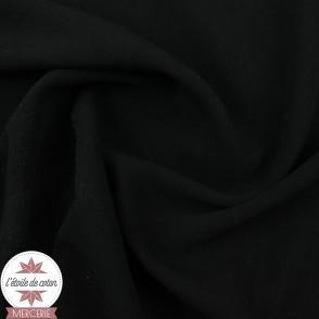 Tissu viscose uni - noir - Oeko-Tex