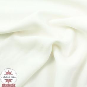 Tissu viscose uni - blanc - Oeko-Tex