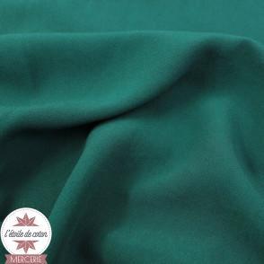Tissu viscose uni - vert paon - Oeko-Tex
