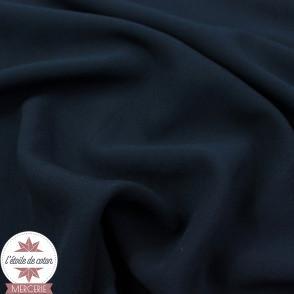 Tissu viscose uni - bleu marine - Oeko-Tex