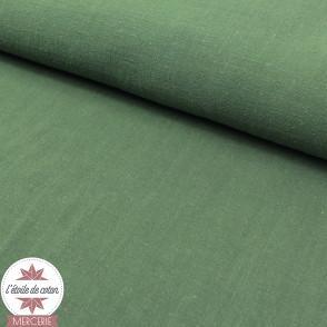 Tissu lin viscose - kaki - Oeko-Tex
