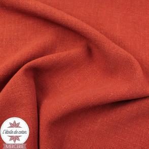 Tissu lin viscose - terracotta - Oeko-Tex