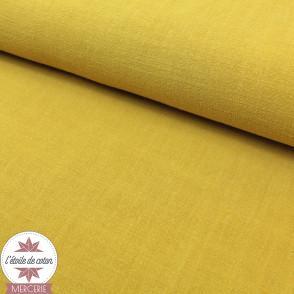 Tissu lin viscose - moutarde - Oeko-Tex