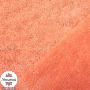 Tissu micro éponge de bambou papaye (Oeko-Tex)