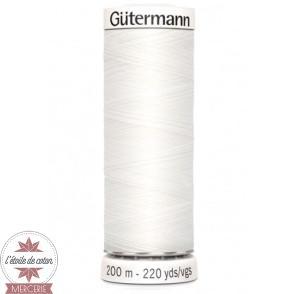 Fil Gütermann pour tout coudre 200 m - Blanc N°800