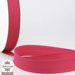Biais uni polycoton 20 mm - rouge