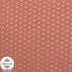 Tissu Eyelet maille ajourée - rose érable