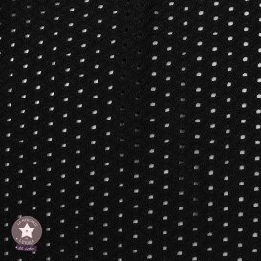 Tissu Eyelet maille ajourée - noir