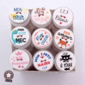 """Bouton message """"100% amour"""" - 20 mm"""