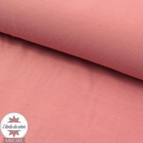Jersey modal uni - bois de rose - Oeko-Tex