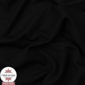 Jersey modal uni - noir - Oeko-Tex