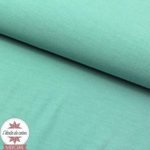 Jersey modal uni - vert opal - Oeko-Tex