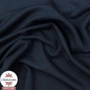 Jersey modal uni - bleu marine - Oeko-Tex