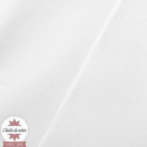 Tissu occultant satiné blanc